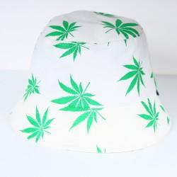 Bob imprimé feuilles de cana vertes