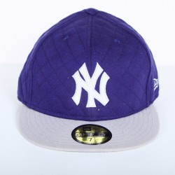 Casquette New Era NY en Melton bleu/gris 59 fifty