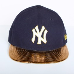 Casquette New Era NY grise logo blanc 59 fifty