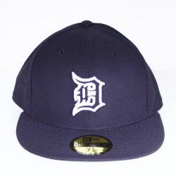 Casquette New Era Detroit mesh bleu logo blanc 59 fifty