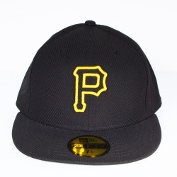 Casquette New Era Pittsburgh Pirates mesh noir logo jaune 59 fifty