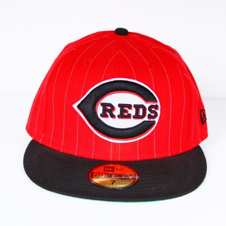 Casquette New Era CHIBEA Reds rouge liserets blancs 59 fifty