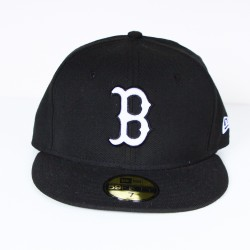Casquette New Era Brooklyn noir logo blanc 59 fifty