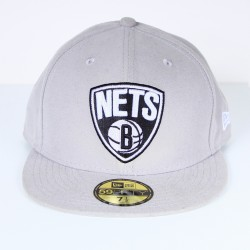Casquette New Era Nets brooklyn gris 59 fifty