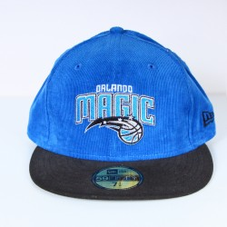 Casquette New Era Magic Orlando velours bleu 59 fifty