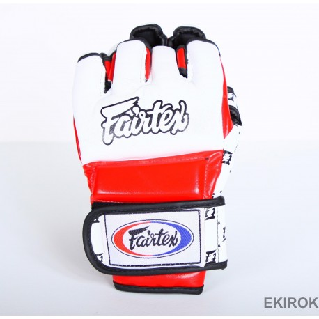 Gants de MMA Fairtex Blanc Rouge