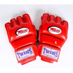 Gants de MMA Fairtex Blanc Bleu