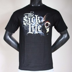 Tee Shirt Noir Psycho Real The Sick Life