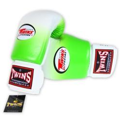 Gants de Boxe TWINS Dégradé vert et blanc