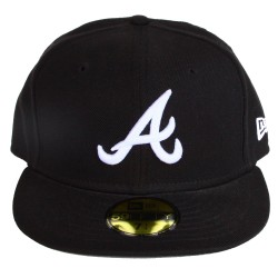 Casquette New Era Atlanta bleue logo blanc 59 fifty