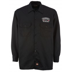 Chemise Dickies Minnersville noir manches longues