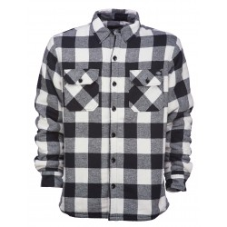 Chemise Dickies d'hiver Lansdale doublure molletonné à carreaux blanc/noir