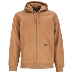 Sweat à capuche Dickies fermeture zippée Kingsley marron