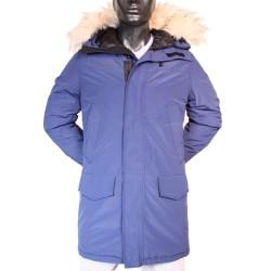 Parka Snorkel à capuche bleu Fermeture zip