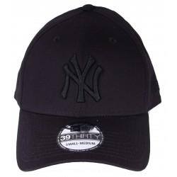 Casquette New Era NY noir ton sur ton