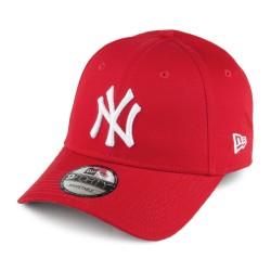 Casquette New Era NY rouge logo blanc