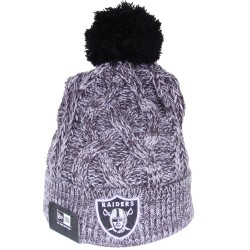Bonnet à pompon New Era Oakland Raiders chiné