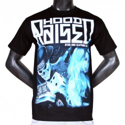 T-shirt Noir Dyse One Hood Raized