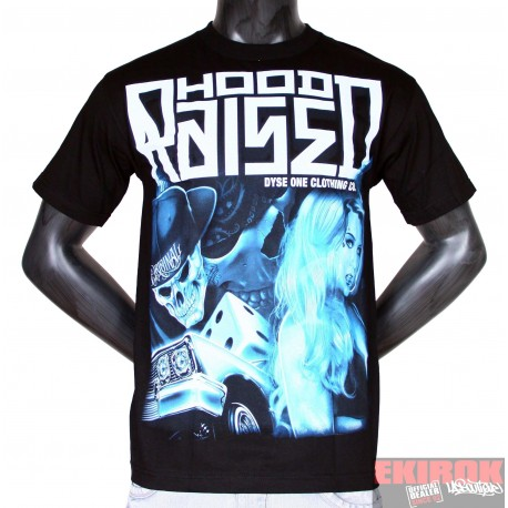 Tee Shirt Noir Dyse One Hood Raized