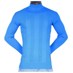 Pull over Mockneck Rumble Bleu