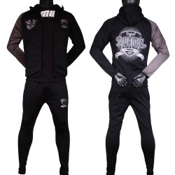 Ensemble Survêtement Rumble jogging fitness noir