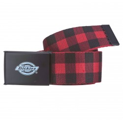 Ceinture Dickies SCOTTSVILLE carreaux bordeaux