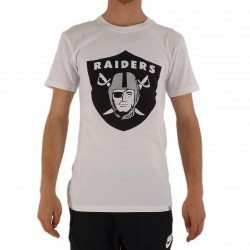 T-shirt Majestic Blanc Logo Raiders