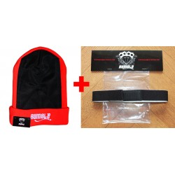 Bonnet Rumble Headspin Vermillon + Elastic
