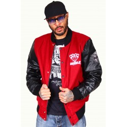 Veste Teddy Rumble Noir / Bordeau