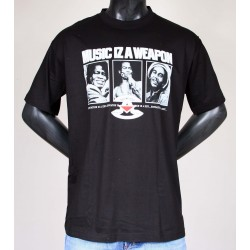 T-shirt Assassin Music Weapon Noir