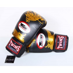 Gants de Boxe TWINS Noir Dragon