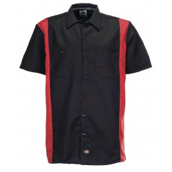 Chemise Dickies Work Shirt Original 2 Tone Black Red