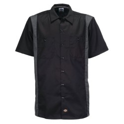 Chemise Dickies Work Shirt Original 2 Tone Black Grey