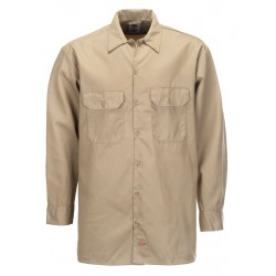 Chemise Dickies Long Sleeve Beige