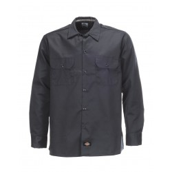 Chemise Dickies Long Sleeve Slim Grey