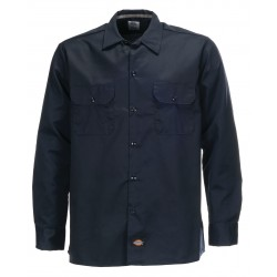 Chemise Dickies Long Sleeve Slim Dark Blue