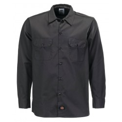 Chemise Dickies Long Sleeve Slim Black