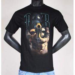 Tee Shirt Noir Psycho Real Gun